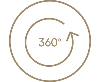 Als met de hand gezet – 360°-roterende wateruitloop